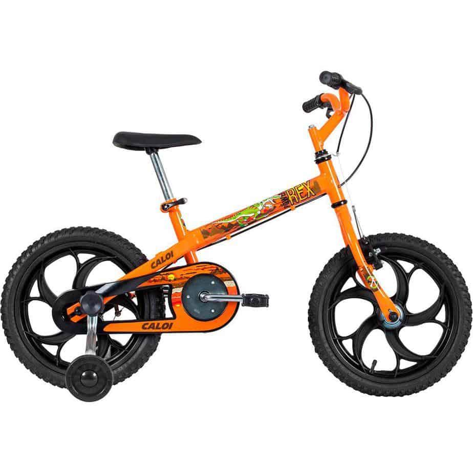bicicleta caloi power rex aro 16 laranja