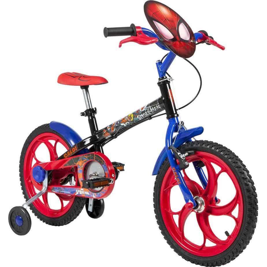 bicicleta caloi spider man aro 16 freio cantilever infantil img