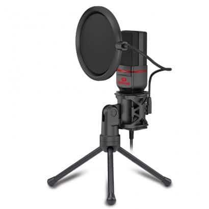 microfone gamer redragon seyfert gm100 preto
