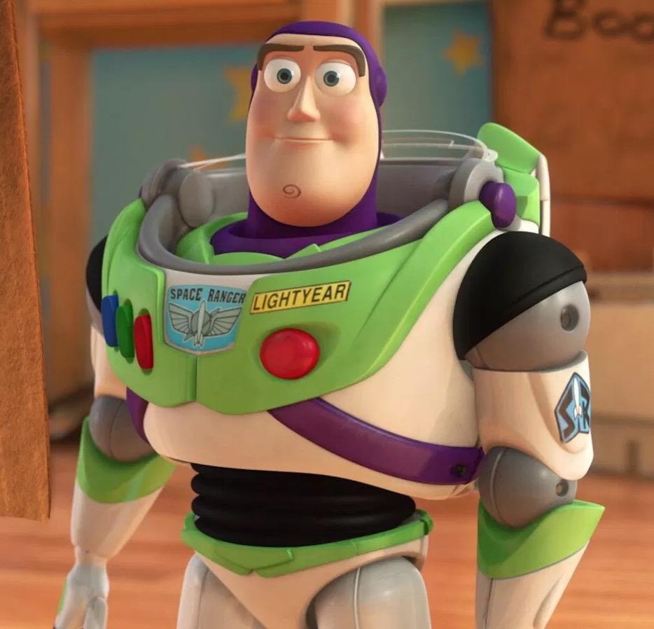 Imagem do Buzz Lightyear olhando para o leitor.